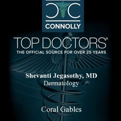 Best Cosmetic Dermatologist - Castle Connolly Award 2020 - Dr, Jegasothy